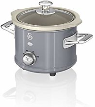 Swan SF17011GRN 1.5 Litre Retro Slow Cooker with
