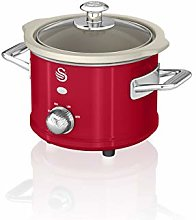 Swan SF17011RN 1.5 Litre Retro Slow Cooker with