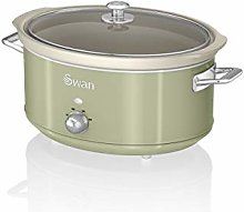 Swan SF17031GN 6.5 Litre Retro Slow Cooker with