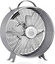 Swan Sfa12630Grn 8 Inch Clock Fan - Grey