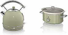 Swan SK14630GN Retro Dome Kettle, Fast Boil, 3kW,