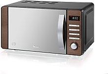 Swan SM22090COPN Digital Microwave, 800w, 20L,