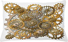 Swave Clock Steampunk Gears Outdoor Cushion Cover