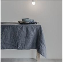 Swedish House At Home - Charcoal Linen Tablecloth