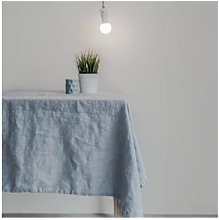 Swedish House - Ice Blue Linen Tablecloth - linen