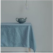 Swedish House - Swedish Blue Linen Tablecloth -