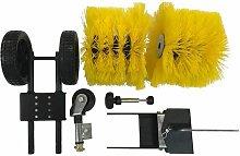 Sweeper brush accessory for Texas Minitex tiller