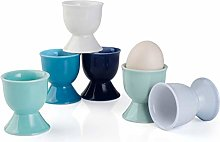Sweese 805.003 Porcelain Egg Cups Set of 6, Boiled