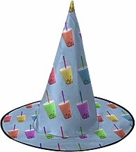 Sweet Bubble Tea Colorful Witch Hat Halloween