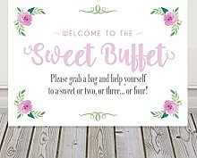 Sweet Buffet Wedding Table Sign Available In A
