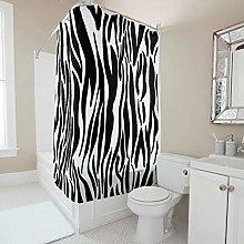 Sweet Luck Black White Zebra Shower Curtain