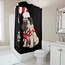 Sweet Luck Christmas Dog Shower Curtain Anti-Mould