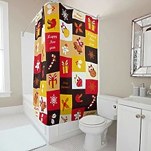 Sweet Luck Christmas Shower Curtain, Anti-Mould,