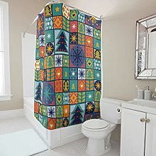 Sweet Luck Christmas Shower Curtain Anti-Mould