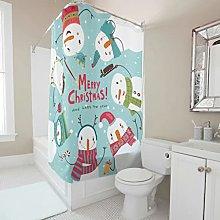 Sweet Luck Christmas Snowman Shower Curtain