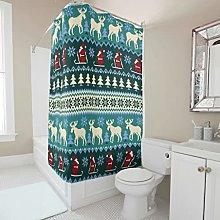 Sweet Luck Santa Claus Elk Shower Curtain,