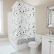 Sweet Luck Terrazzo Shower Curtain Anti-Mould