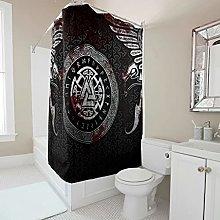 Sweet Luck Viking Raven Runes Shower Curtain,