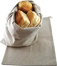 Sweet Needle - Pack of 2 -Bread Storage Bags, Flax