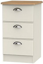 Swift Charlotte Ready Assembled 3 Drawer Bedside
