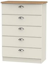 Swift Charlotte Ready Assembled 5 Drawer Chest