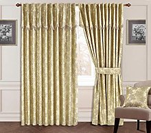 SWIFT Curtain Pair Fully Lined Pencil Pleat With