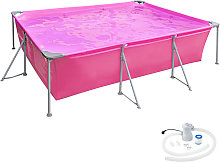 Swimming pool rectangular with pump 300 x 207 x 70