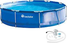 Swimming pool round with pump - Ø 360 x 76 cm