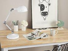 Swing Arm Desk Lamp White Industrial Adjustable