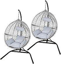 Swing Hanging Egg Chair Rattan Bench Garden Patio