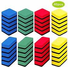 SwirlColor Whiteboard Erasers, Red Green Yellow