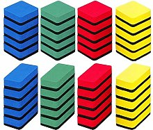 SwirlColor Whiteboard Erasers, Red Green Yellow