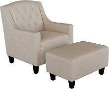 Swissvale Arm Chair and Ottoman Ophelia & Co.