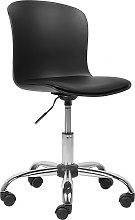Swivel Armless Desk Chair Black VAMO