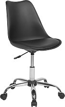 Swivel Chair Padded Seat Height Adjustable Desk