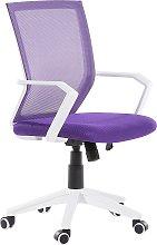 Swivel Desk Chair Purple RELIEF