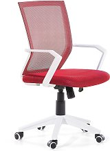 Swivel Desk Chair Red RELIEF