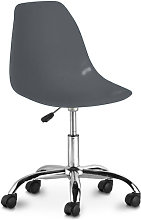 Swivel office chair with casters - Deswick Dark