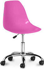 Swivel office chair with casters - Deswick Fuchsia