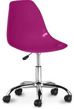 Swivel office chair with casters - Deswick Mauve