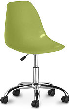 Swivel office chair with casters - Deswick Olive