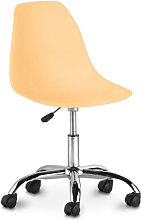 Swivel office chair with casters - Deswick Pastel