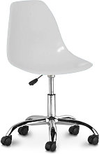 Swivel office chair with casters - Deswick White