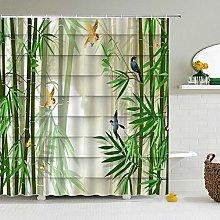 Swooggle Shower Curtain Leaf Bathroom Curtain