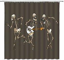 Swooggle Skull Bathroom Shower Curtain Waterproof
