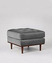 Swoon Berlin Fabric Ottoman
