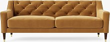 Swoon Pritchard Large 3 Seater Sofa, Dark Leg