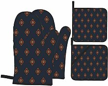 SXCVD Heat Resistant Oven Mitts and Pot Holders 4