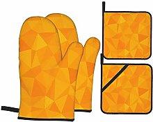 SXCVD Heat Resistant Oven Mitts and Pot Holders 4