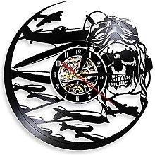 SXLCKJ Aviator Vinyl Record Wall Clock Aviator